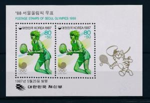 [55537] Korea 1987 Olympic games Seoul Tennis MNH Sheet