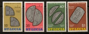 ST.LUCIA SG374/7 1974 COINS OF OLD ST LUCIA MNH