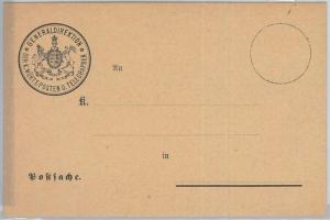 66745 - GERMANY Württemberg - Postal History - POSTAL STATIONERY Formular CARD