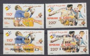 J29552,1982 djibouti sets mnh #c153-4, c166-7 same ovpt,s sports