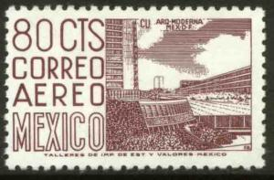 MEXICO C472, 80c 1950 Defin 9th Issue Unwmkd Fosfo Coated. MINT, NH. F-VF.