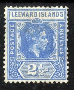 LEEWARD ISLANDS King George VI 1938-51 2½d. Bright Blue SG 105 MINT