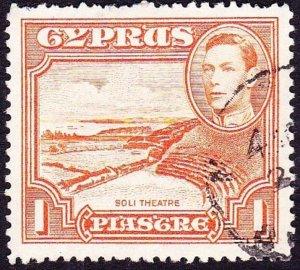 CYPRUS 1938 KGVI 1p Orange SG154 Used
