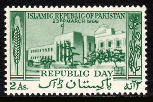 Pakistan 82, MNH. Proclamation of the Republic. Natl. Assembly, 1956