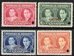 Honduras 1933 Inauguration of President set of 4 unmounte...