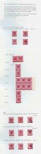 Perak 1891 1c on 2c Bright Rose collection inc Mint Multiples