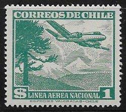 CHILE, AIR LINES STAMP, SC C138, MNH, OG