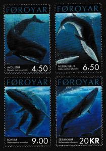 Faroe Is. Whales 4v SG#419-422 SC#403-406