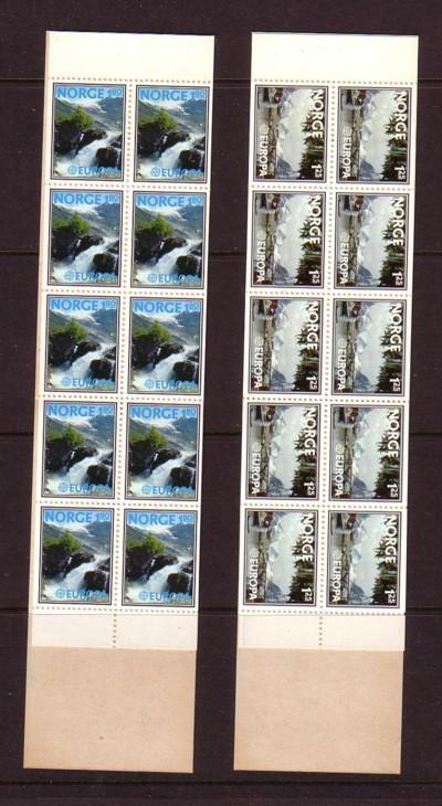 Norway Sc 693a-4a 1977 Europa stamp booklets mint NH