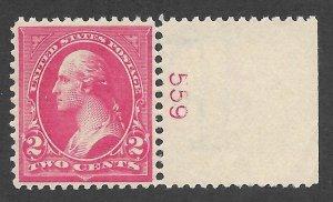 Doyle's_Stamps: Scott #279B**  VF-XF  2c Washington Plate Single