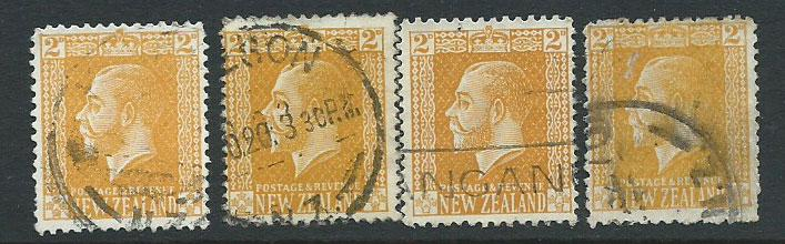 New Zealand SG 439 4 copies assume lowest value for study