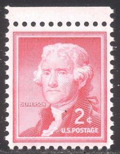 U.S. #1033a MInt NH w/Cert - 2c Jefferson on Silkote Paper