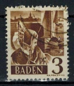 Germany - French Occupation - Baden - Scott 5N2