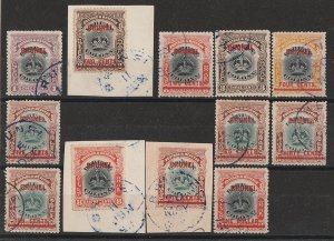 BRUNEI : 1906 Labuan Crown set 1c-$1/8c. Only 2000 printed & rare used.
