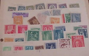 CUBA STAMP 40  DIFF. MINT MOSTLY LIGHT HINGED