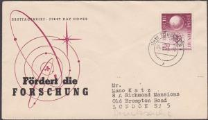 GERMANY 1955 Scientific Research commem FDC..................................482