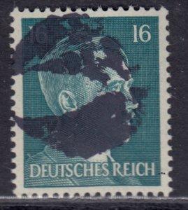 Germany Soviet Zone SBZ - LOCAL BLOSENBERG 16Pf HITLER head - Expertized Richter