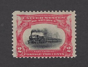 United States Scott 295 2¢ Pan-American Expo Train Mint Never Hinged