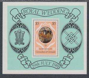 Grenada Grenadines 443 Royal Wedding Souvenir Sheet MNH VF