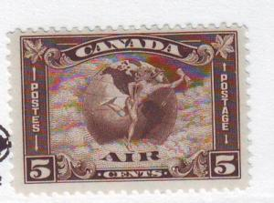 Canada ScC2 1930 5 c Airmail stamp Mercury Scroll mint