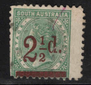 South Australia Scott 94 Used brown surcharge perfs cut at left