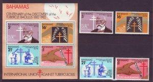 Z720 JLstamps 1982 bahamas set mh + s/s mnh #505-8a medicine