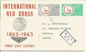 International Red Cross 100 Anniversary 1963 Ireland EIRE First Day Cover U2533