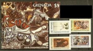 Grenada 1981 Picasso art paintings set+s/s  MNH