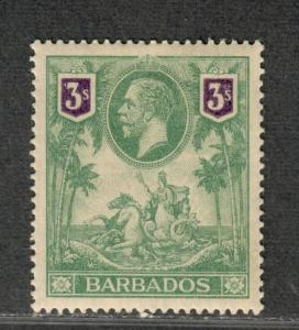 Barbados Sc#126 M/H/VF, Cv. $115