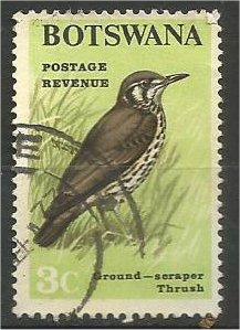 BOTSWANA, 1967, used 3c, Birds Scott 21