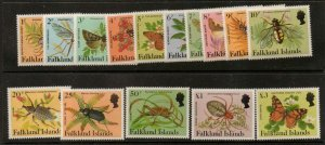 FALKLAND ISLANDS SG469A/83A 1984 INSECTS & SPIDERS MNH