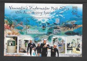 FISH - VANUATU #1069  UNDERWATER POST OFFICE  MNH