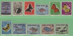 $Cuba Sc#608-609, C185-C191, E26-E27 M/NH/VF, complete set, Cv. $87.50