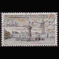 CZECHOSLOVAKIA 1954 - Scott# 675 Ceske View 3k Used