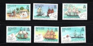 Belize SC765-770 BritishPostOffice-350thAnniv. MNH 1985