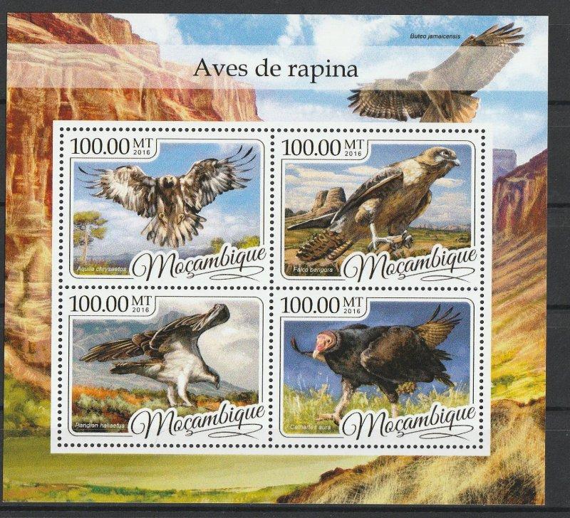 Mozambique MNH S/S Eagles 2016