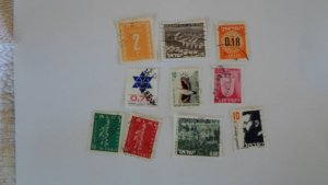 ISRAEL STAMPS MIXED CONDITION. LOT OF 10 STAMPS ( 2