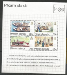 PITCAIRN ISLANDS, 1980, MNH SS, Transport Scott 192