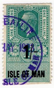 (I.B) George V Revenue : Isle of Man 1/- on 1/- OP