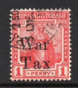Trinidad 1918 KGV War Tax (Tax spaced) 1d SG 189 used CV £25