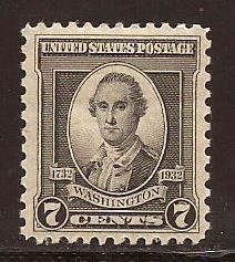 U. S.  #  712  Mint  N H