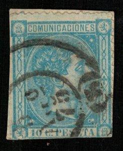 1875, King Alfonso XII, 10 Cs, PESETA, COMUNICACIONES, rare, CV $ 1701 (Т-7633)