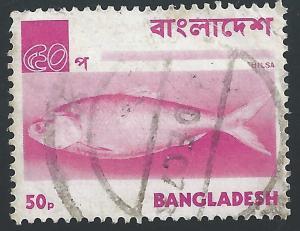 Bangladesh #48 50p Fish - Hilsa