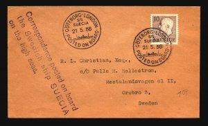 Sweden 1956 Goteborg - London Paquebot Cover - Z16789