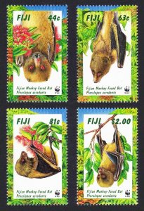 Fiji MNH 797-800 Monkey Faced Bats WWF 1999
