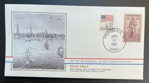 US #777,2115 Used on Cover - Bicentennial of the Constitution 1787-1987 [BIC5]