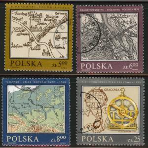 Poland Scott 2550-53 Used CTO 1982 map set