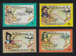 Norfolk Pacific Explorers 4v issue May 1994 SG#562-573 SC#550-561A