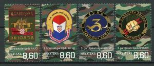 Croatia 2019 MNH War of Independence Guards Brigades 4v Set Military Stamps