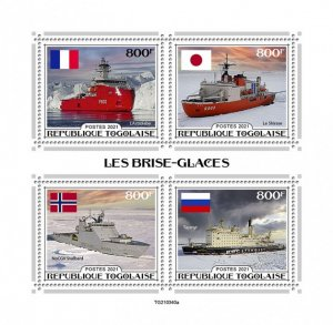 TOGO - 2021 - Ice Breakers - Perf 4v Sheet - Mint Never Hinged